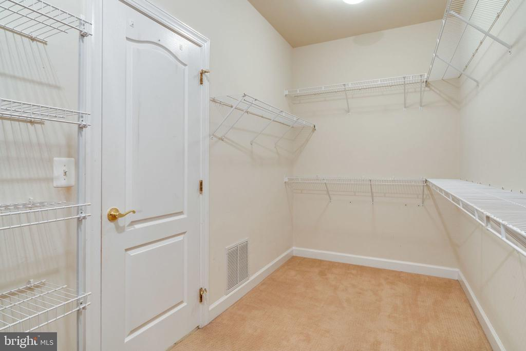 Master bedroom walk in closet - 11914 HADDON LN, WOODBRIDGE