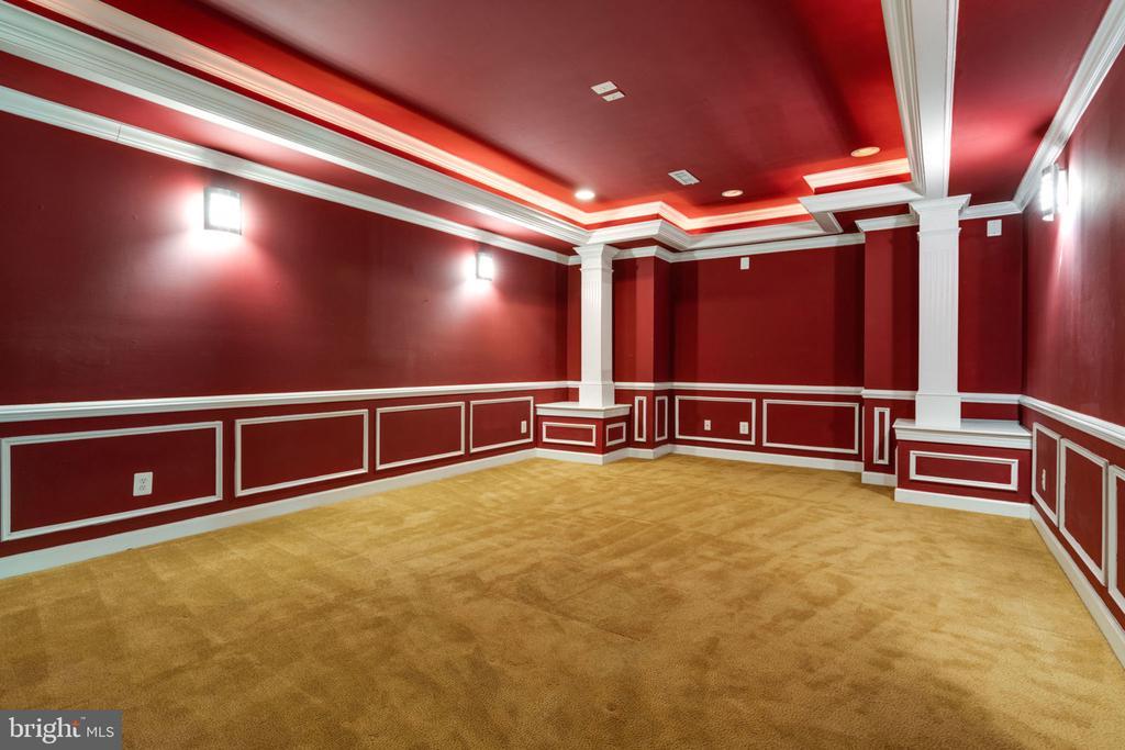 Lower level media room - 11914 HADDON LN, WOODBRIDGE