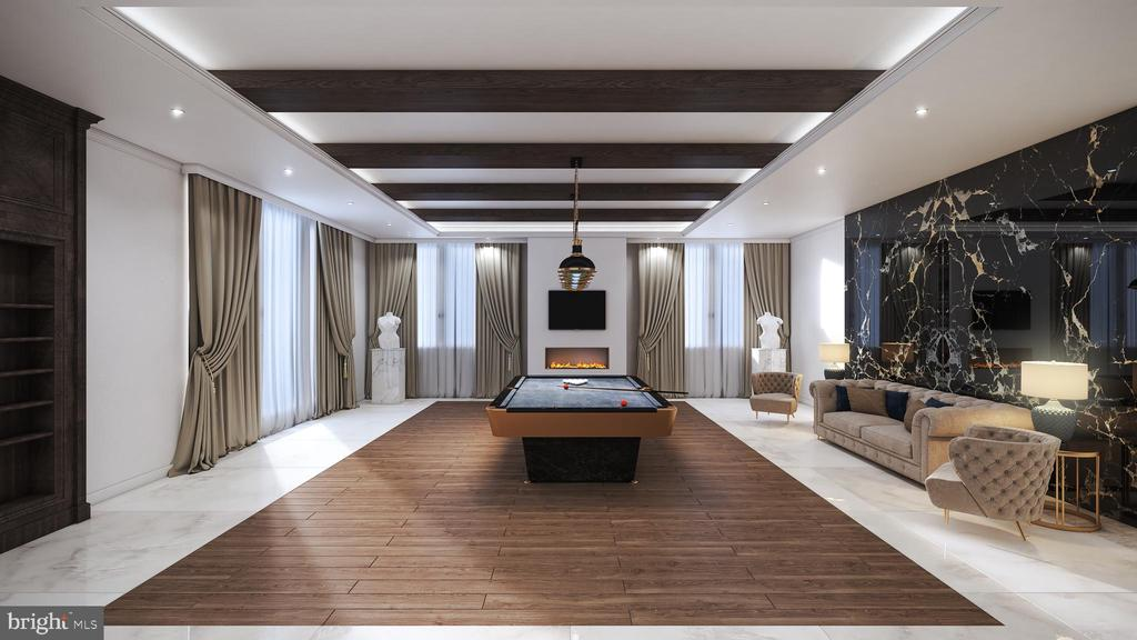 Recreation Room - Billiards - 1048 RECTOR LN, MCLEAN