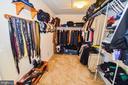 Huge 15' X 7'  Walk In Closet in Master - 14856 MASON CREEK CIR #76, WOODBRIDGE