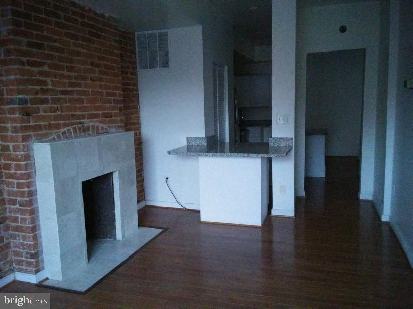 Living Room With Masonary & Marble Fire Place. - 1433 NW CLIFTON ST NW #2, WASHINGTON