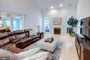 2 Story Family Room with Gas FP - 13909 BALMORAL TER, CLIFTON