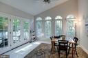 Sunroom on Main Level w/French Doors - 13909 BALMORAL TER, CLIFTON