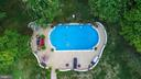 aerial of inground pool - 132 CHRISWOOD LN, STAFFORD