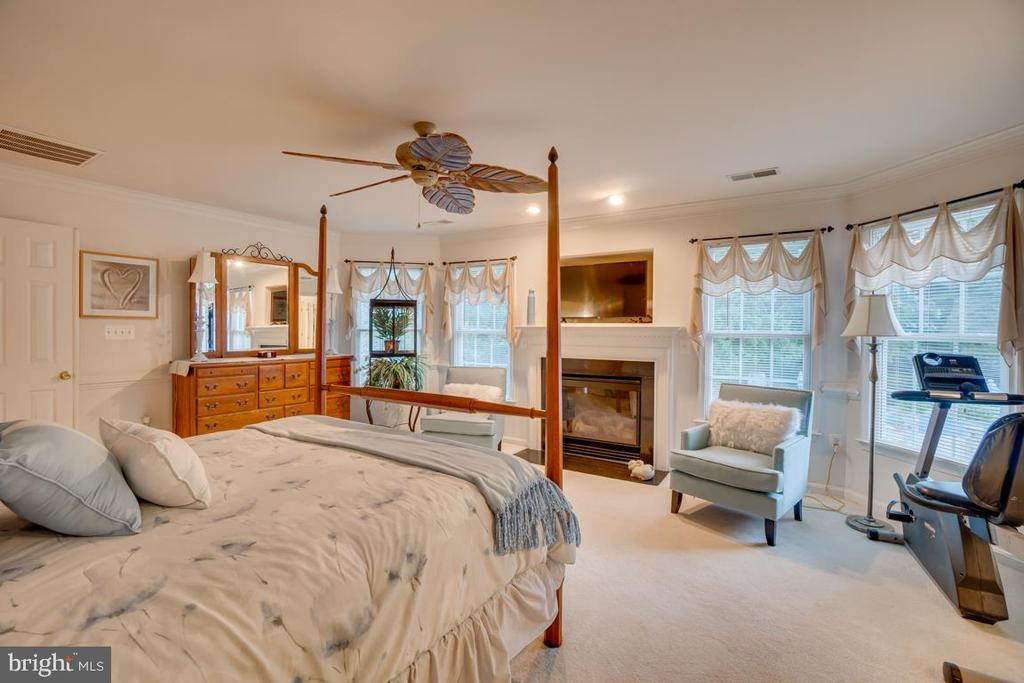 master bedroom with fireplace - 132 CHRISWOOD LN, STAFFORD