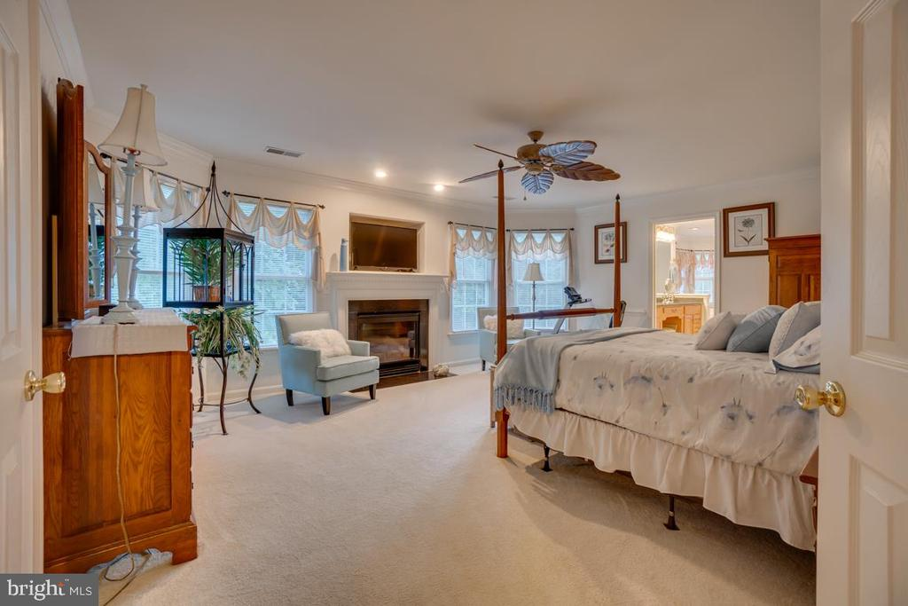 spacious master bedroom with fireplace - 132 CHRISWOOD LN, STAFFORD