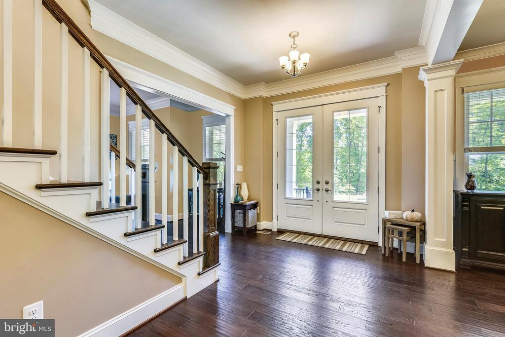 Grand entry with 10 foot ceilings and 8 foot doors - 41984 PADDOCK GATE PL, ASHBURN