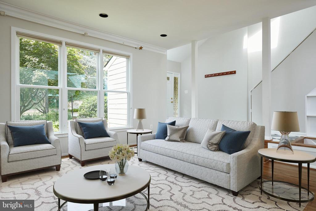 Virtually Staged Living Room - 11117 WATERMANS DR, RESTON