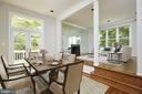 Virtually Staged Dining Room - 11117 WATERMANS DR, RESTON