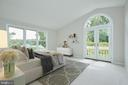 Virtually Staged Master Bedroom - 11117 WATERMANS DR, RESTON