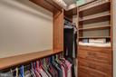 Custom  walk-in master closet - 888 N QUINCY ST #909, ARLINGTON
