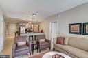Living room looking toward the kitchen - 888 N QUINCY ST #909, ARLINGTON