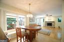 Breakfast Area and Family Room - 11107 BRADDOCK RD, FAIRFAX