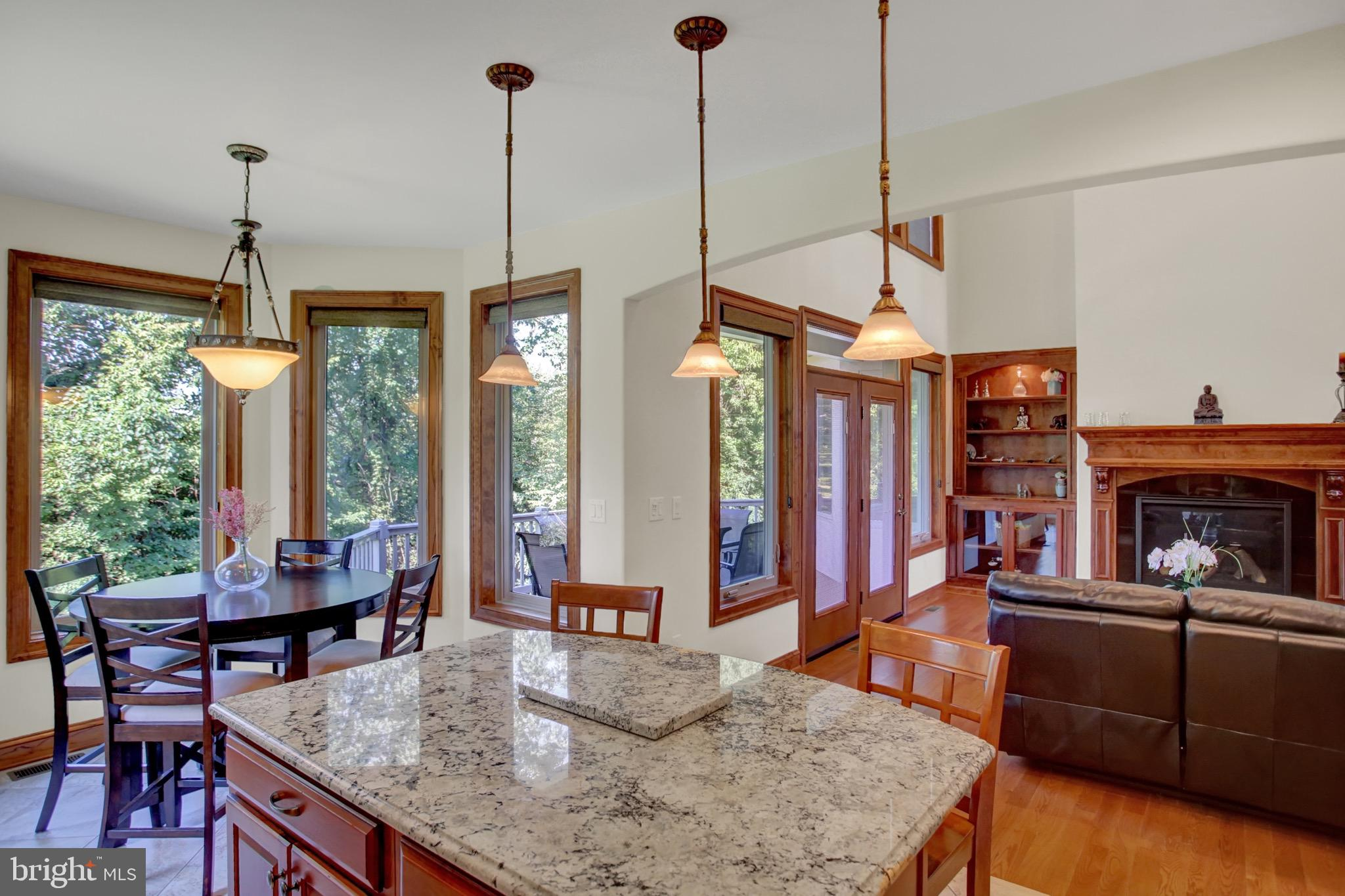 Breakfast nook and island open to Great Room