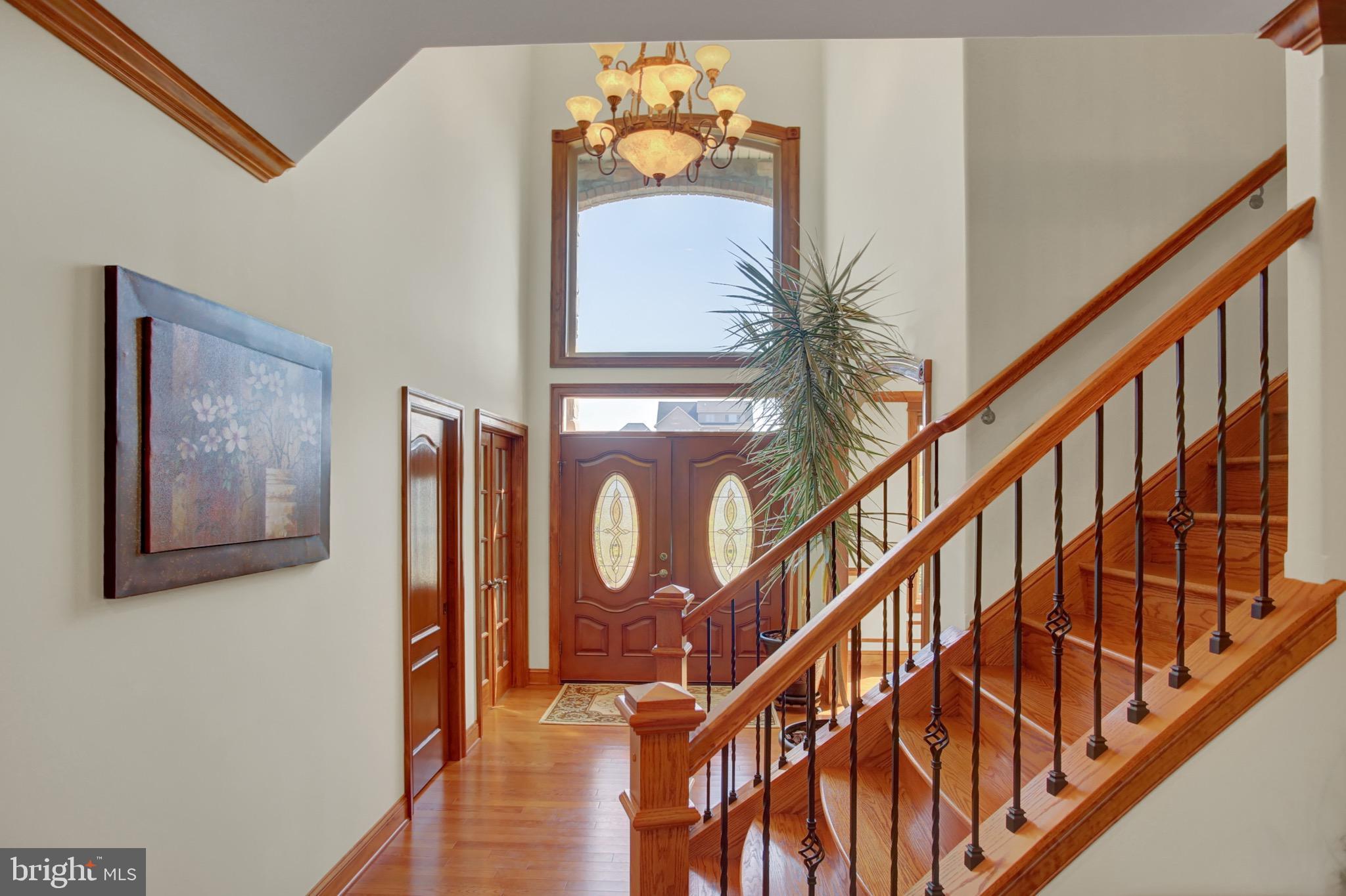 Grand open foyer.