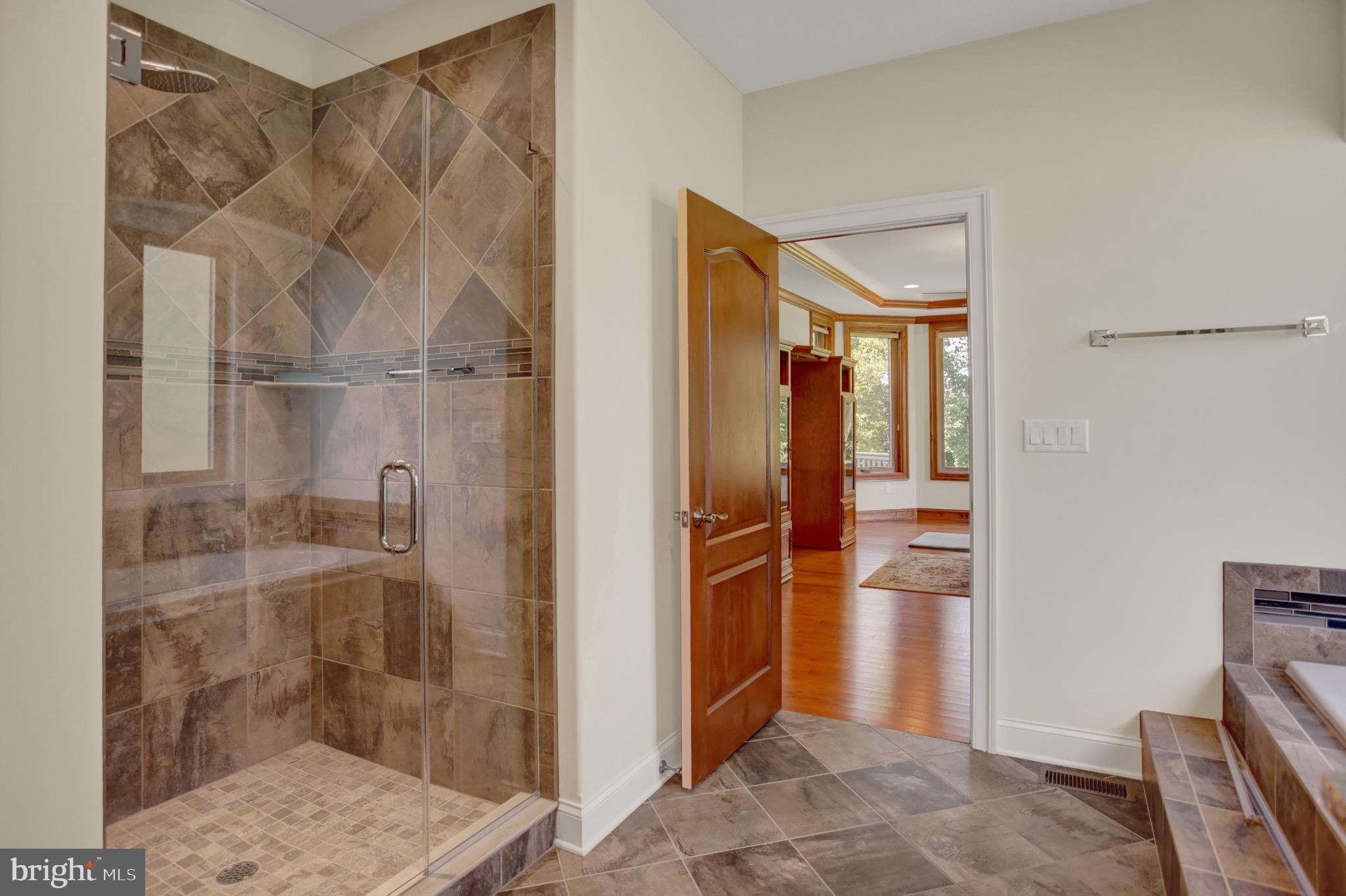 Master Bath custom tiled shower