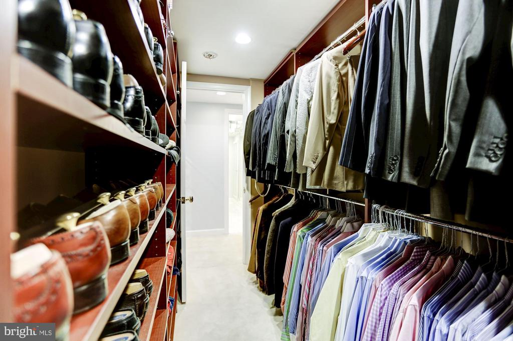 Second of two walk-in closets in Master - 1080 WISCONSIN AVE NW #103/104, WASHINGTON