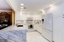 Beautiful white and grey marble Kitchen - 1080 WISCONSIN AVE NW #103/104, WASHINGTON