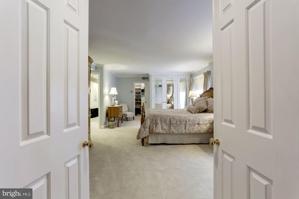 Double doors to Master Suite - 1080 WISCONSIN AVE NW #103/104, WASHINGTON