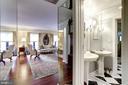 Powder Room off main entry - 1080 WISCONSIN AVE NW #103/104, WASHINGTON