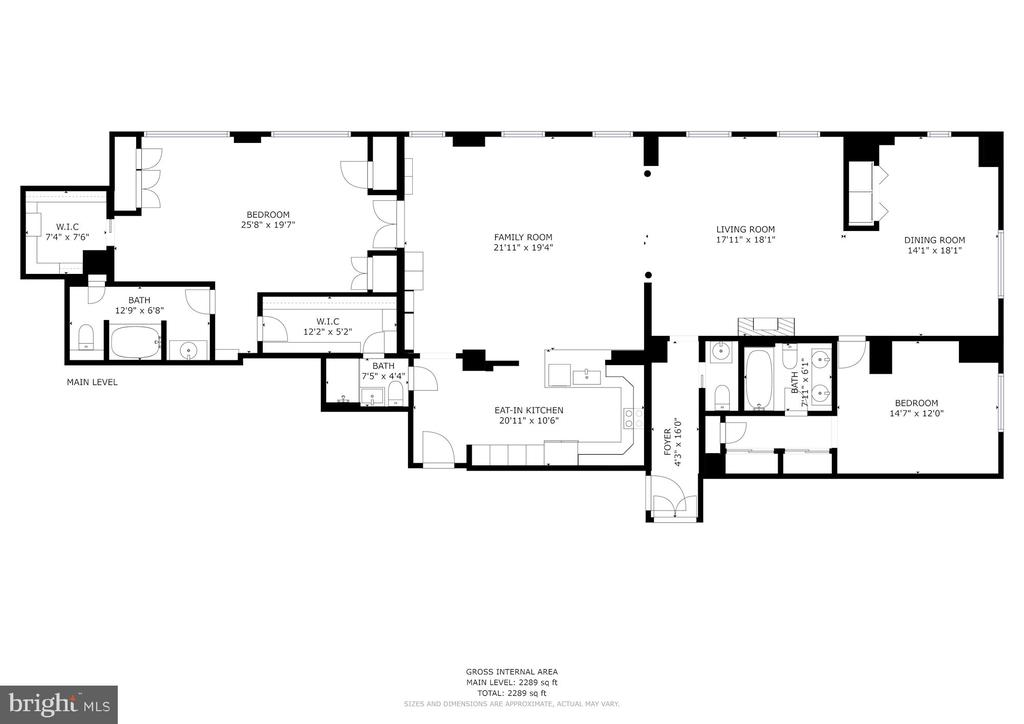 Floor Plan for #103/104 - 1080 WISCONSIN AVE NW #103/104, WASHINGTON