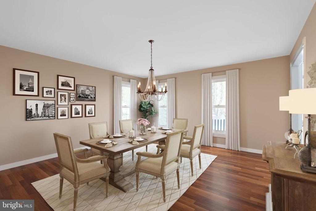 Spacious Dining Room (virtual reno) - 10114 LAWYERS RD, VIENNA