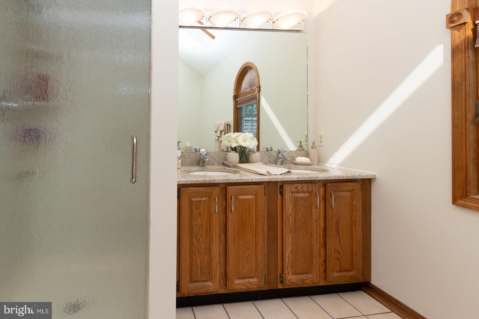 Lg Glass Walk In Shower in Master Bath