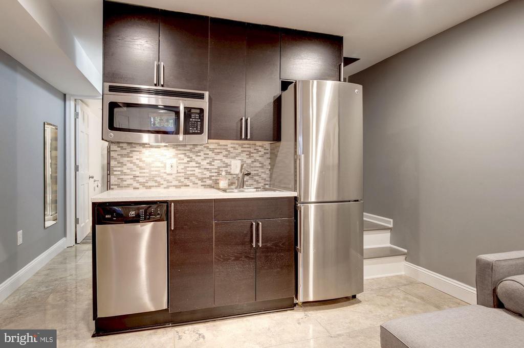 Basement studio kitchenette - 1347 CONSTITUTION AVE NE, WASHINGTON
