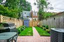 Private fenced backyard - 1347 CONSTITUTION AVE NE, WASHINGTON