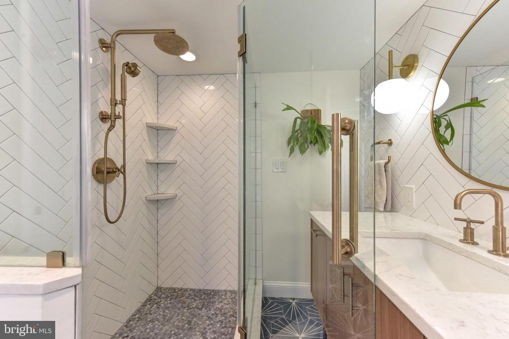 Chic finishes in master bath - 214 WOLFE ST, ALEXANDRIA