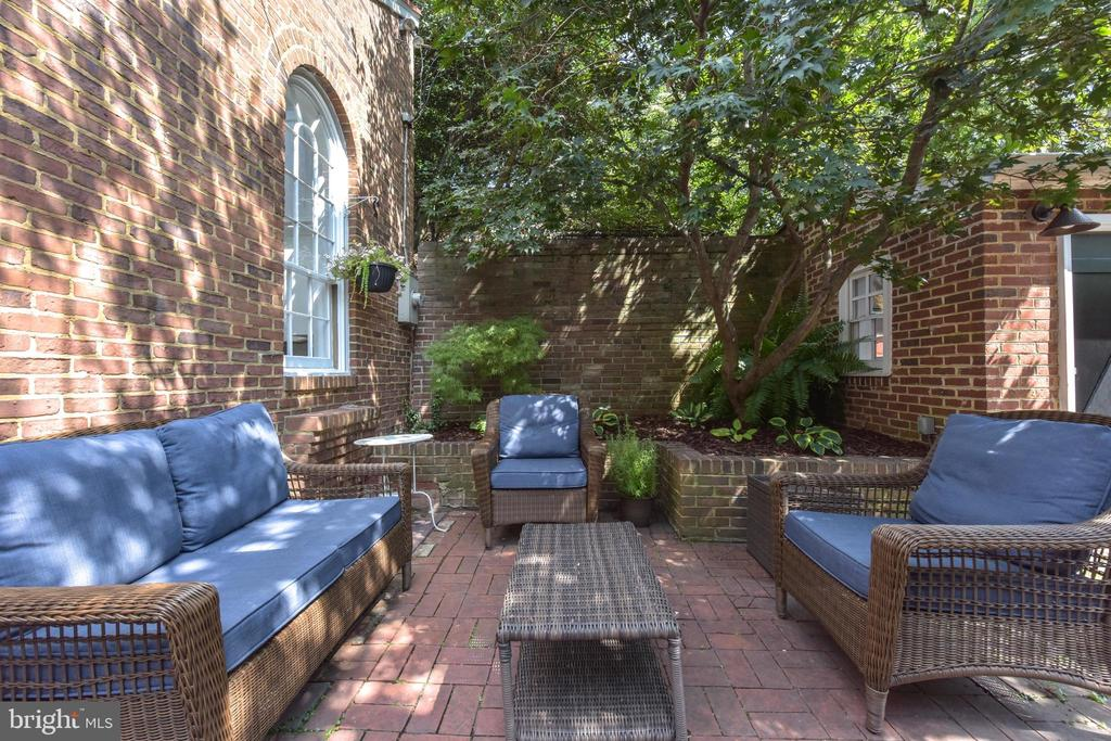 Private back patio - 214 WOLFE ST, ALEXANDRIA