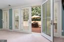 Shuttered doors to patio- Walk Out Level - 6014 GROVE DR, ALEXANDRIA