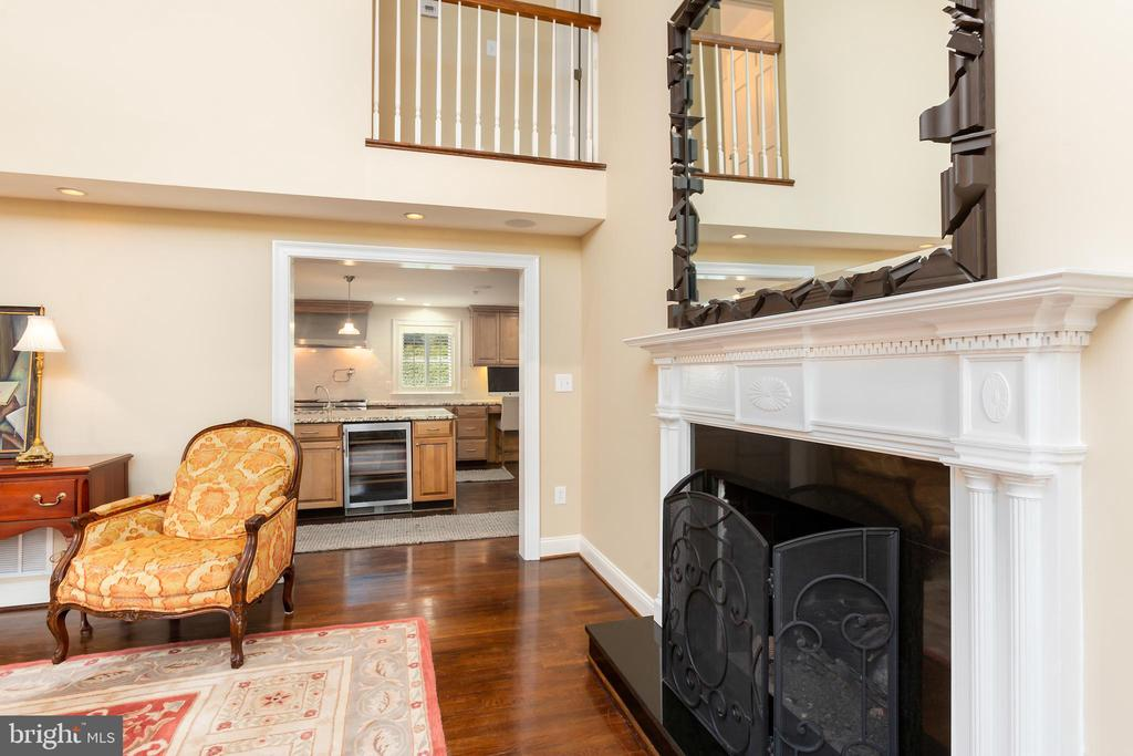 Great Room View of Kitchen (Gas Fireplace) - 6014 GROVE DR, ALEXANDRIA