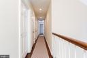 Upper Hallway with Stackable Washer/ Dryer - 6014 GROVE DR, ALEXANDRIA