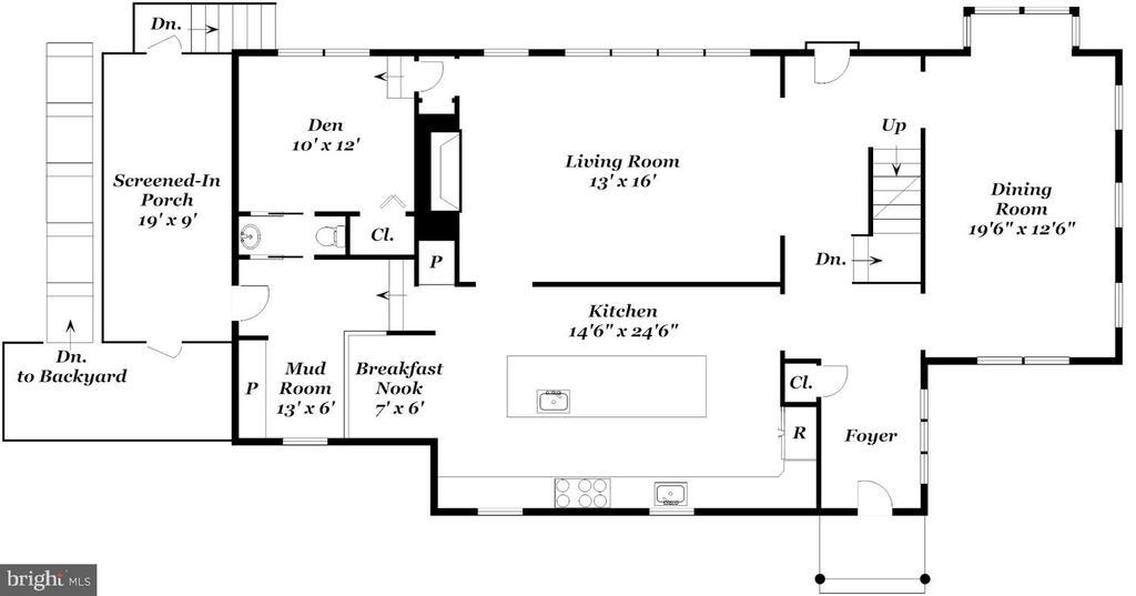 Main Level Floor Plan - 6014 GROVE DR, ALEXANDRIA