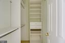 Custom closet systems in all upper level closets - 7428 SPRING SUMMIT RD, SPRINGFIELD
