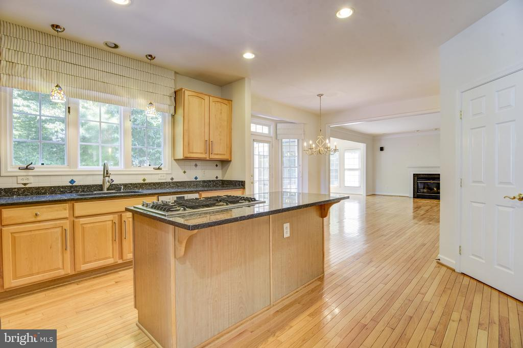 Room for everyone in this spacious kitchen - 7428 SPRING SUMMIT RD, SPRINGFIELD
