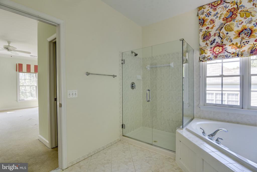 Upgraded frameless shower - 7428 SPRING SUMMIT RD, SPRINGFIELD