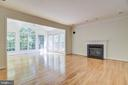 Family room with adjoining sunroom - 7428 SPRING SUMMIT RD, SPRINGFIELD