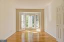 Double door entry into den * Bay window - 7428 SPRING SUMMIT RD, SPRINGFIELD