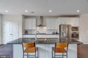 Open Gourmet Kitchen with Bar Seating - 23384 NANTUCKET FOG TER, BRAMBLETON
