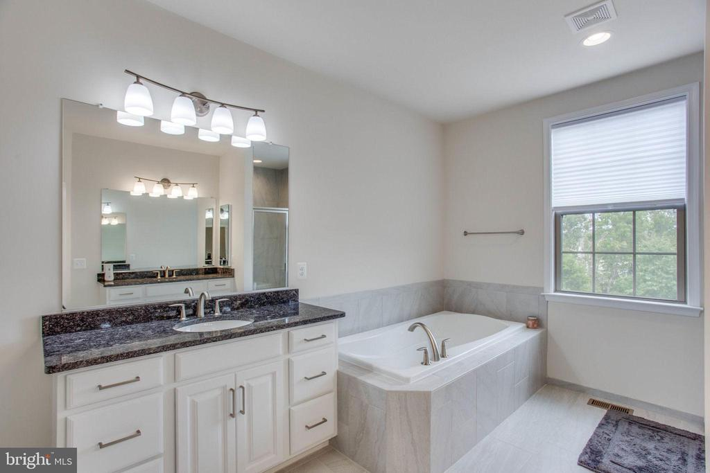 Master Bath with Dual Vanity and Soaking Tub - 23384 NANTUCKET FOG TER, BRAMBLETON