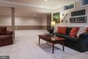 Large finished space for entertaining - 9185 MAROVELLI FOREST DR, LORTON