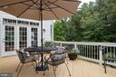 Other view of deck - 9185 MAROVELLI FOREST DR, LORTON