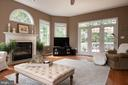Family room with ceiling fan - 9185 MAROVELLI FOREST DR, LORTON