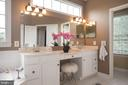 Double vanity sink, corner soaking tub - 9185 MAROVELLI FOREST DR, LORTON