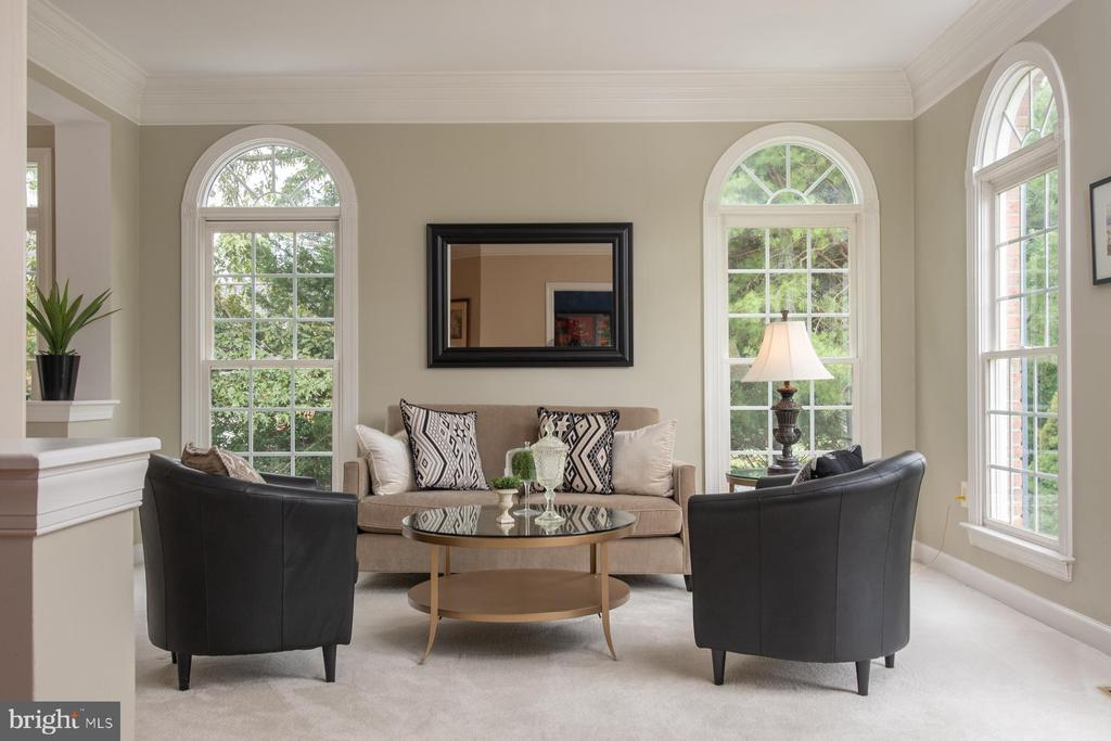 Formal Living Room with light inviting windows - 9185 MAROVELLI FOREST DR, LORTON
