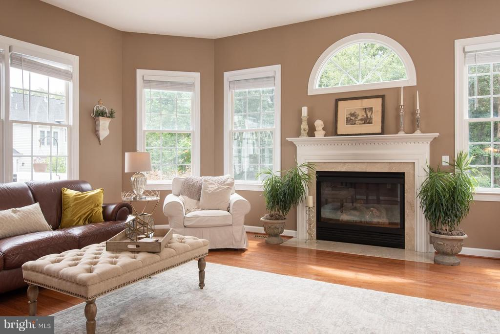 Family room with Gas Fireplace - 9185 MAROVELLI FOREST DR, LORTON