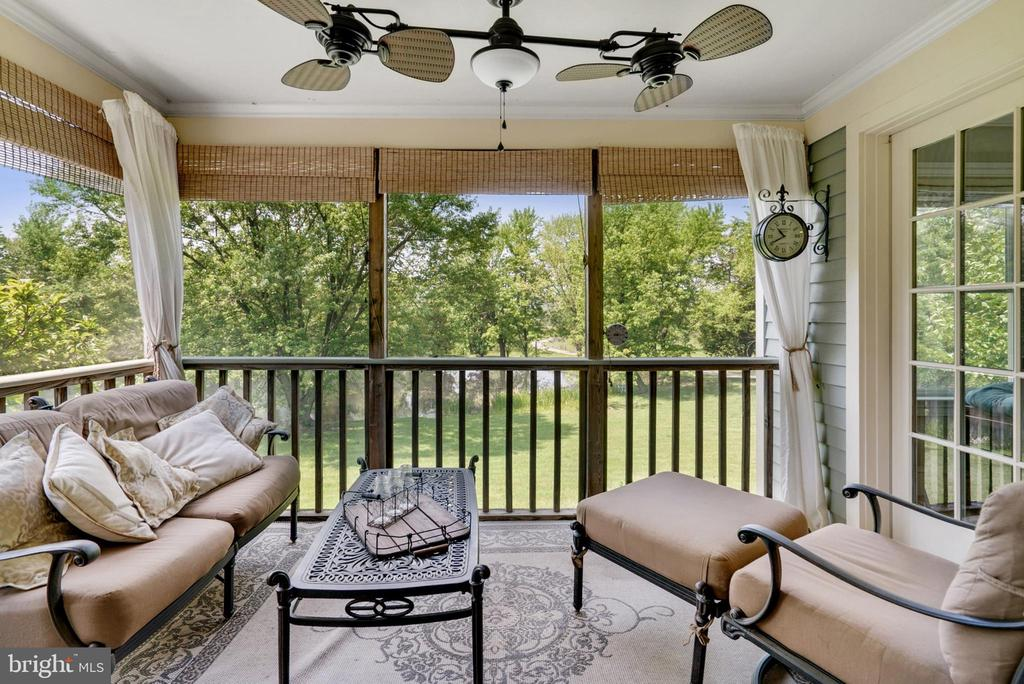 Screened in Porch Overlooking Large Pond - 13452 HARPERS FERRY RD, HILLSBORO