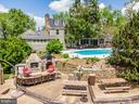 Aerial View of Main House, Pool & Outdoor Living - 13452 HARPERS FERRY RD, HILLSBORO